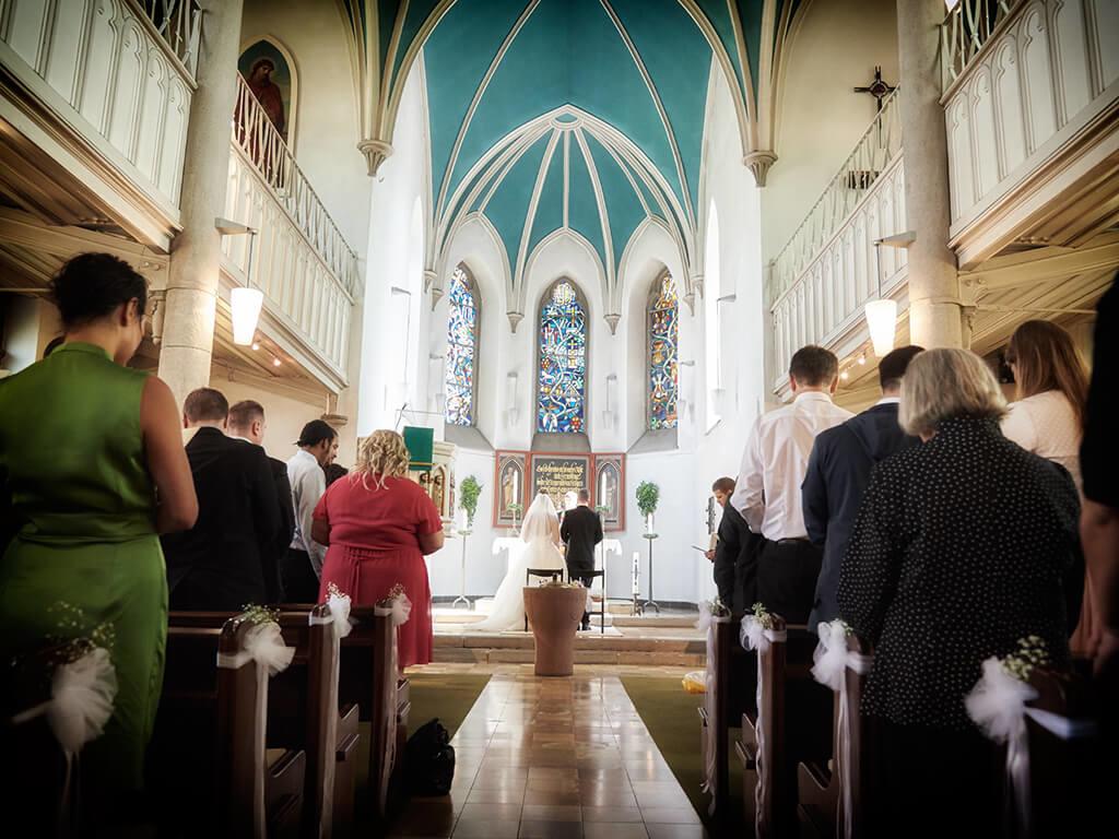 Kirche Trauung Hochzeitsshooting Hosenfeldt Wuppertal
