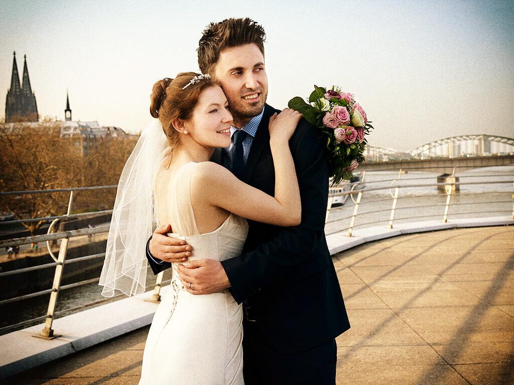 Hochzeitsfoto in Köln Fotostudio Hosenfeldt