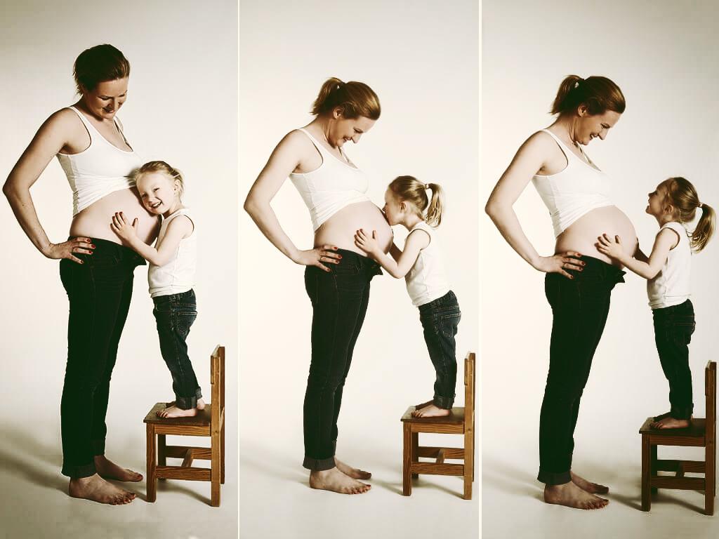 Babybauch mit Geschwister Fotostudio Hosenfeldt