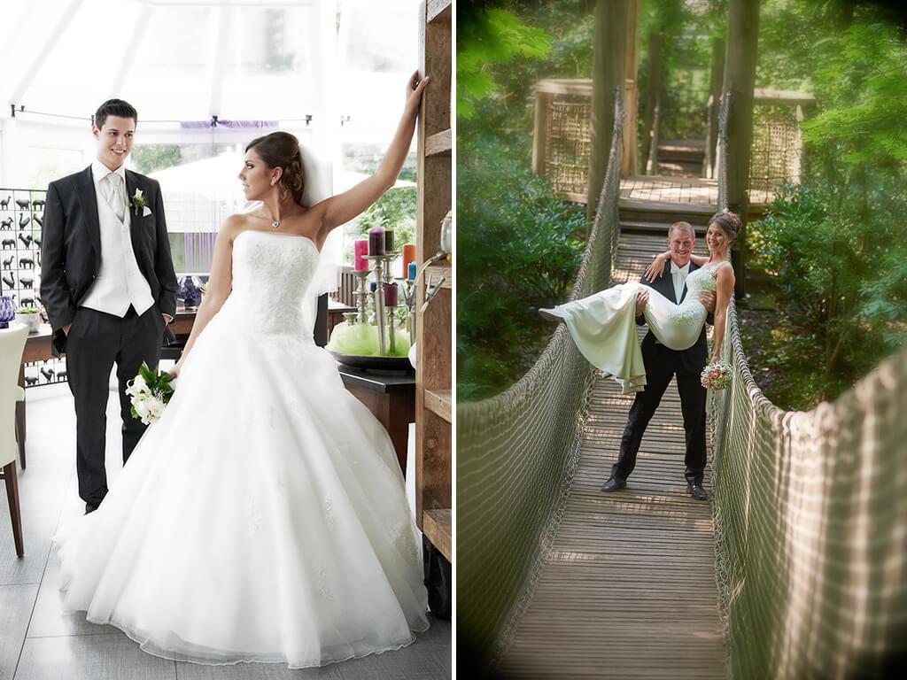 Hochzeitsfotografie Paar Brücke Fotostudio Hosenfeldt
