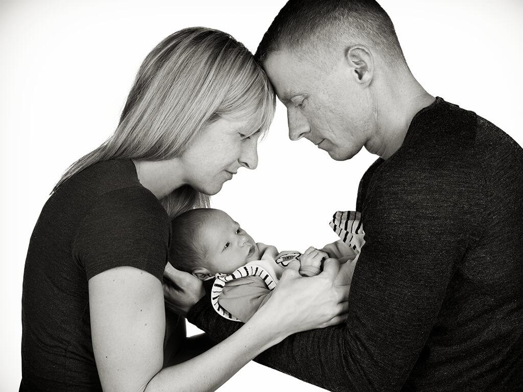 Baby mit Eltern Fotostudio Hosenfeldt