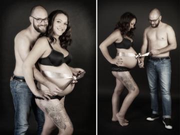 Babybauch mit Schleife Fotostudio Hosenfeldt