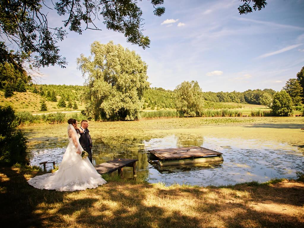 Hochzeitsfoto am See Fotoshooting Hosenfeldt