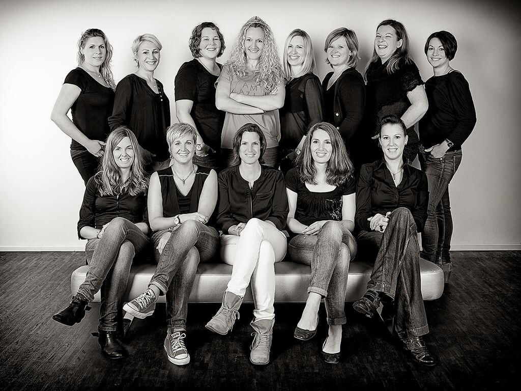 Schwarz-Weiß Fotoshooting Junggesellinnenabschied
